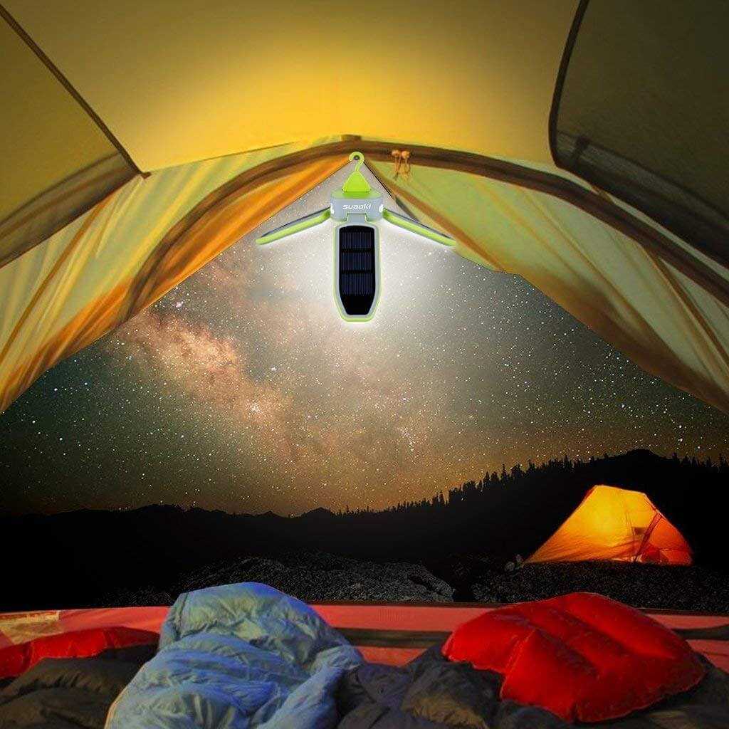 SUAOKI Collapsible Clover Style 18 Led Camping Tent Lantern