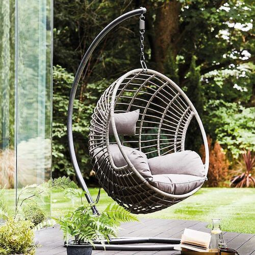 Castello hanging chair with base