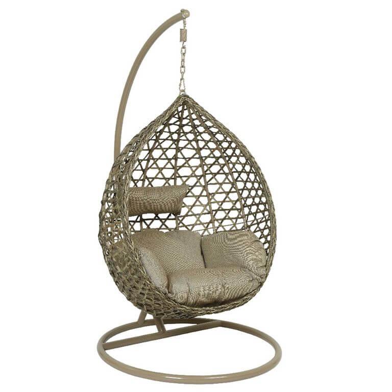 Cordoba hanging chair with base