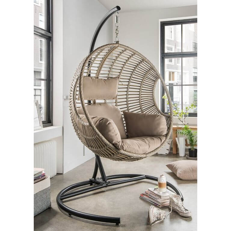 Vasillios Hanging Chair with Stand
